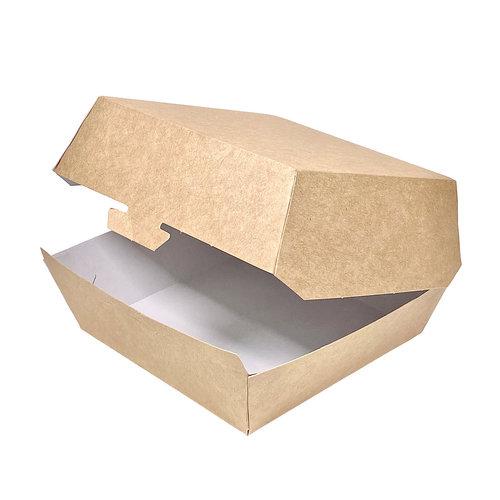 Caixa de Hambúrguer Pequena Kraft - Pacote 25 unidades