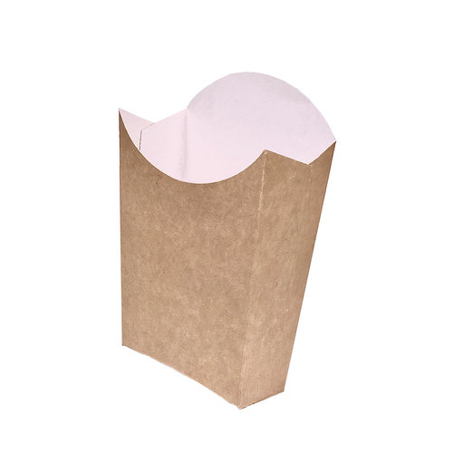 Caixa para Batatas Fritas Média Kraft - Cx. completa 500 unidades