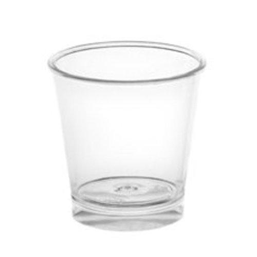 Copo Plastico SHOT LISO  30ml (Cristal) PS Cx Completa 1500 unidades C/ Tampa