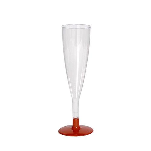 Copo FLUTE CLÁSSICO 120ml. (cristal) PS embalagens de 100 unidades Vermelho