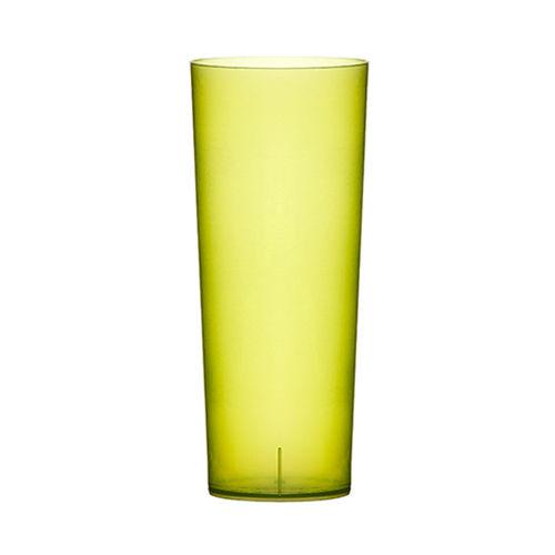 Copo Plastico TUBO 200ml.  (Flexivel) ,PP  VERDE Emb.c/100 Unidades