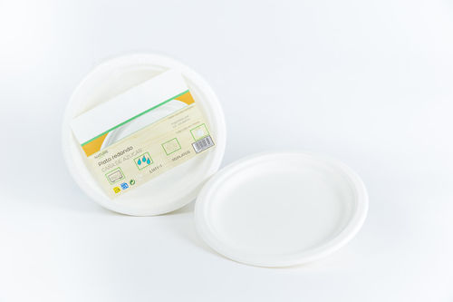 Prato BIO Branco Cana de açucar 26cm - Cx Completa 800 unidades