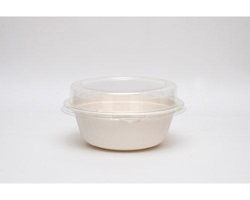 Taça Redonda Biodegradável Branco Cana de Açúcar 500 ml caixa completa de 600 unidades