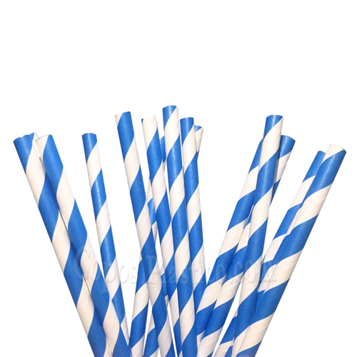Palhinha Papel Recta Azul - Caixa Completa de 6000 unidades