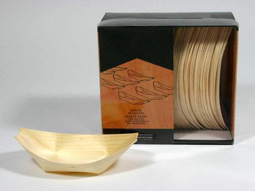Barco de madeira de 13 cm caixa completa de 1250 unidades