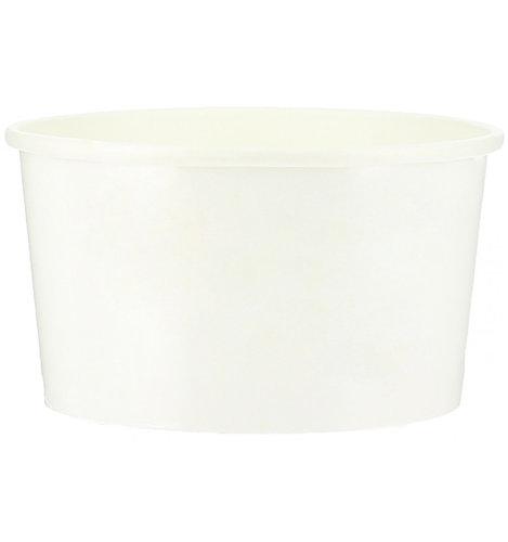 Copo Cartão Branco para Gelados 120ml - manga 50 unidades com tampa cúpula