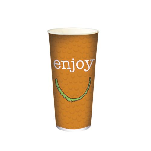"""Copo Cartão Bebidas Frias  """"Enjoy"""" 680ml -Aferido a 500ml (22OZ) Cx completa 1000 Uni s/ Tampa"""