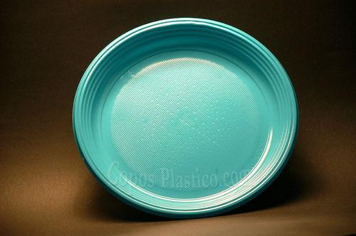 Prato Plástico Descartável 22 Cm Cx completa  700 Unidades Azul