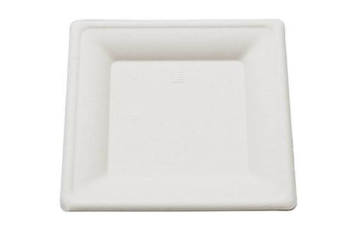 Prato quadrado BIO 15x15cm - caixa completa 1000 unidades