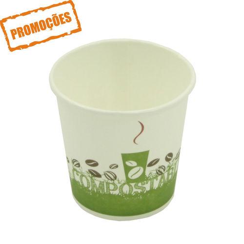 Copo Cartão Green Cup - 100 % Biodegradável 100ml - Caixa Completa 1000 unidades