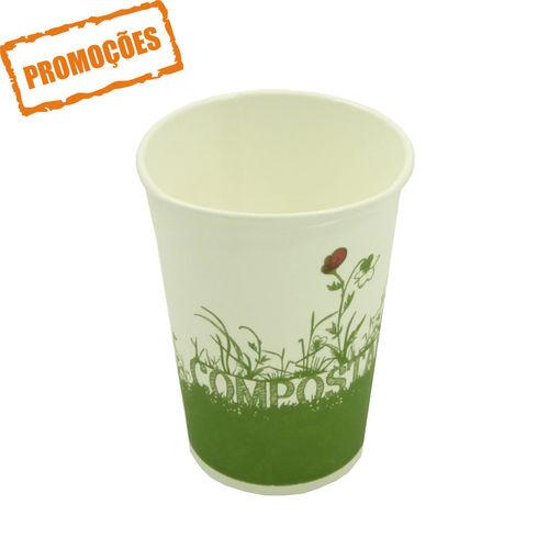 Copo Cartão Green Cup - 100 % Biodegradável 250ml - Caixa Completa 1000 unidades
